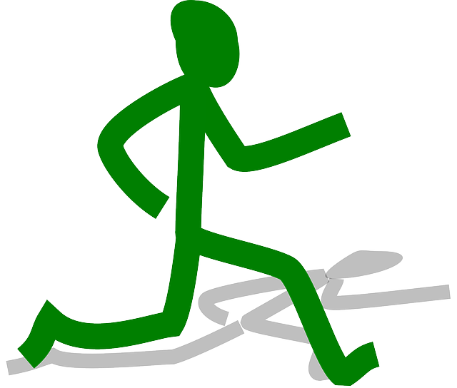 zelený panáček, běh
